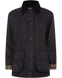 Barbour - Classic Beadnell Waxed Jacket - Lyst