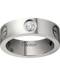 Cartier - White Gold Love Diamond Ring - Lyst