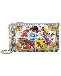 8b0f459849a5 Dolce   Gabbana - Mini Floral Clutch Bag - Lyst