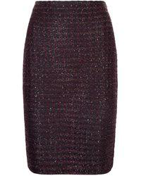 St. John - Scallop Knit Sequin Skirt - Lyst