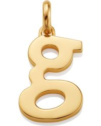 Monica Vinader - Gold Lower Case G Pendant - Lyst