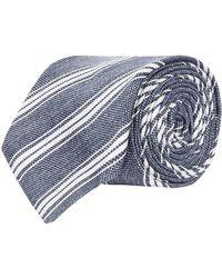 Harrods - Textured Silk Tie, Blue, One Size - Lyst