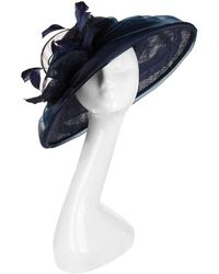 e8dac19f9b8 Peter Bettley - Organza-draped Wide-brim Hat - Lyst