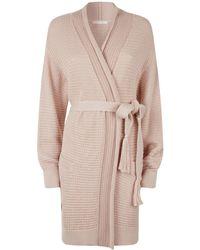 Lyst - Eberjey Fiona Kimono Robe with Lace in Black a174032f4