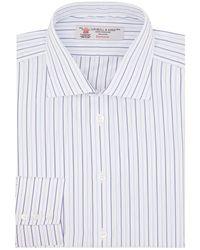 Turnbull & Asser - Oxford Stripe Printed Shirt - Lyst