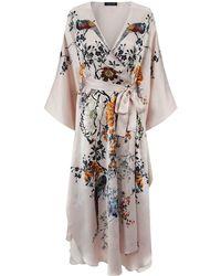 Meng - Printed Silk Kimono Robe - Lyst