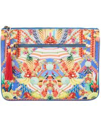 Camilla - Small Canvas Clutch - Lyst