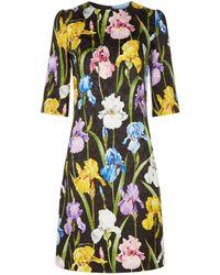 Dolce & Gabbana - Iris Jacquard Mini Dress - Lyst