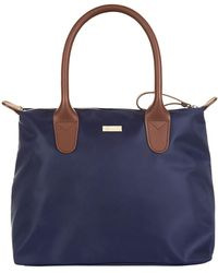 Harrods - Iris Small Foldable Leather Trim Tote - Lyst
