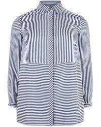 Elena Miro - Elena Mir Striped Long Sleeve Shirt, Blue, Uk 20 - Lyst