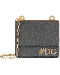 af62440d14 Lyst - Dolce   Gabbana Patent Dg Girls Round Cross Body Bag in Blue