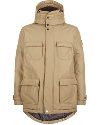 Armani - Down Padded Parka Coat - Lyst