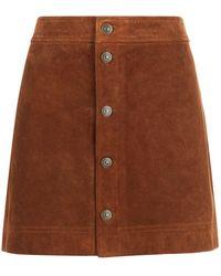Polo Ralph Lauren - Suede Skirt - Lyst
