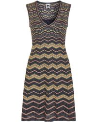 M Missoni - Metallic Wave Sleeveless Dress - Lyst