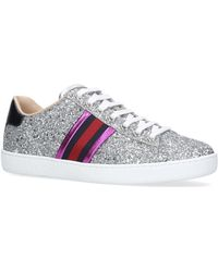 Gucci - Glittered Leather Sneakers - Lyst