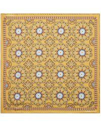 Turnbull & Asser - Silk Mosaic Tile Pocket Square - Lyst