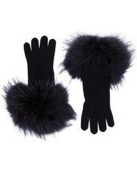 Weekend by Maxmara - Fur Cuffed Gloves - Lyst
