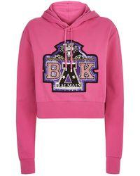 Balmain - X Beyonc Embellished Hoodie - Lyst