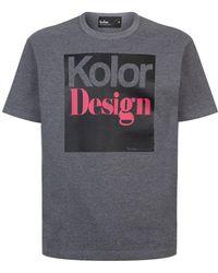 Kolor - Logo T-shirt - Lyst