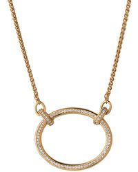 64e3b7ee3d8fb Links of London - Yellow Gold Vermeil And White Topaz Ovals Necklace - Lyst