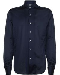 Canali - Cotton Jersey Casual Shirt - Lyst
