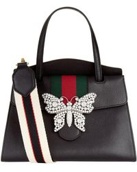 Gucci - Leather Totem Top Handle Bag - Lyst