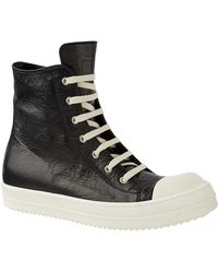 Rick Owens - Leather High-top Trainers - Lyst