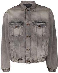 0c7961ffe Lyst - Unravel Distressed Ma-1 Bomber Jacket in Black for Men
