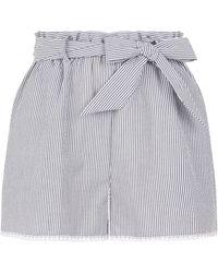 Jonathan Simkhai - Striped Lace Trim Shorts - Lyst
