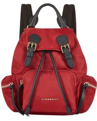 Burberry - Small Buckled Rucksack - Lyst
