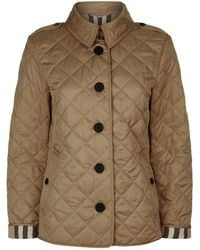 Burberry - Diamond Quilted Jacket - Lyst