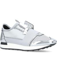 Balenciaga - Metallic Race Runner Trainers - Lyst