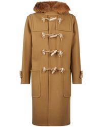 Loewe - Fox Fur Trim Duffle Coat - Lyst