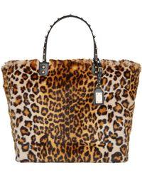 Dolce & Gabbana - Beatrice Shopping Bag In Leopard Faux Fur - Lyst