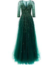 Jovani - Embellished Tulle Gown - Lyst