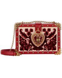 Dolce & Gabbana - Heart Lock Wood Box Clutch - Lyst