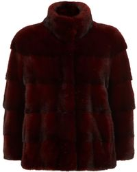 Lilly E Violetta - 3⁄4-length Sleeve Mink Fur Jacket - Lyst