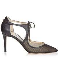 Jimmy Choo - Vanessa 85 Leather Court Shoes - Lyst