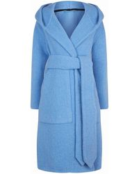 Burberry - Wool Dressing Gown Coat - Lyst
