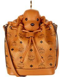 MCM - Heritage Drawstring Dog Cross Body Bag - Lyst