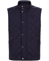 Paul & Shark - Diamond Quilted Gilet - Lyst