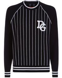 Dolce & Gabbana - Baseball Stripe Jumper - Lyst