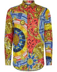 fb0f4a592cd78 Moschino Brand Patterned Shirt in Black for Men - Lyst