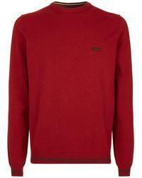 BOSS Green - Crew Neck Sweater - Lyst