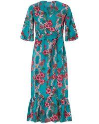 Sandro - Silk Floral Dress - Lyst