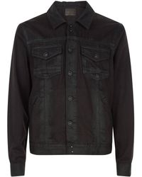 PAIGE - Coated Denim Jacket - Lyst