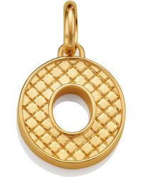 Monica Vinader - Gold Quilted Capital O Pendant - Lyst
