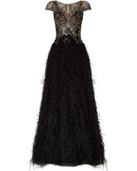 Jovani - Feather Skirt Gown - Lyst