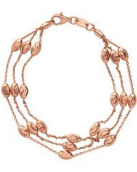 Links of London - Rose Gold Vermeil Essentials Beaded 3 Row Bracelet - Lyst