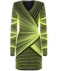 Balmain - Fitted Longsleeved Dress - Lyst